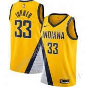 Barn NBA Tröja Indiana Pacers 2019-20 Myles Turner 33# Guld Finished Statement Edition Swingman..